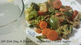 GM diet day 3 - Vegetarian dinner