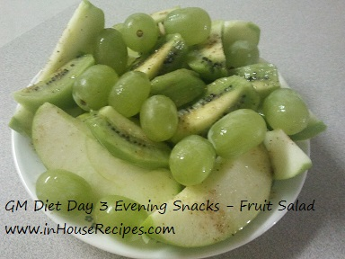GM diet day 3 - Vegetarian evening snacks