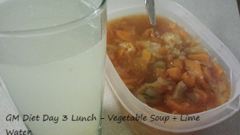 GM diet day 3 - Vegetarian lunch