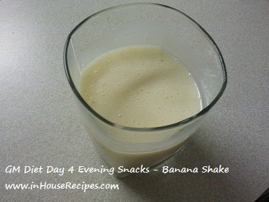 GM diet day 4 - Vegetarian evening snacks