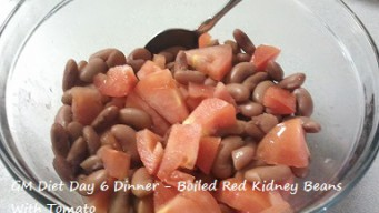 GM diet day 6 - Vegetarian dinner