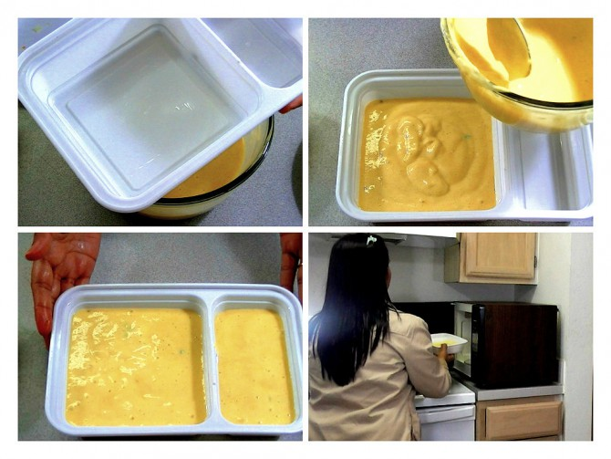 Preparing Dhokla pan and Cooking Dhokla in microwave