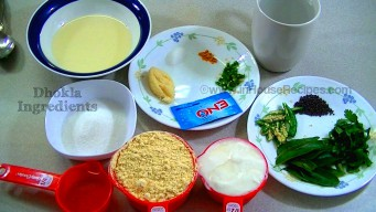 Ingredients for dhokla
