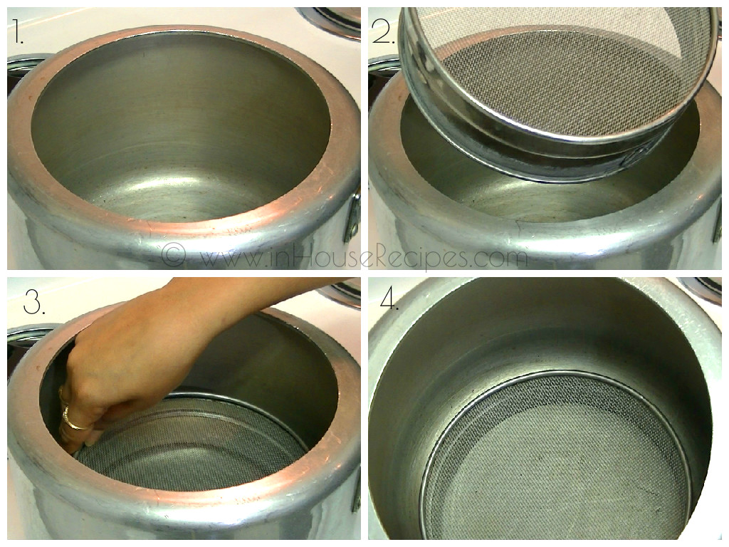Add A Sieve In Cooker For Baking Lava Cake