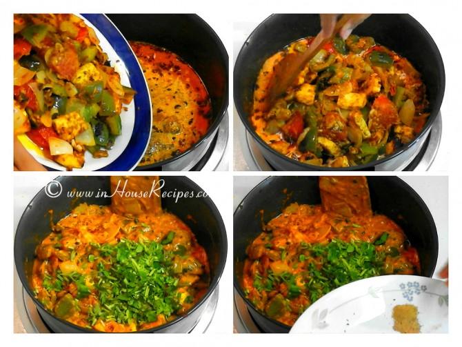 Add marinated paneer to gravy