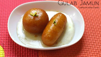 Gulab jamun long and round shaped.