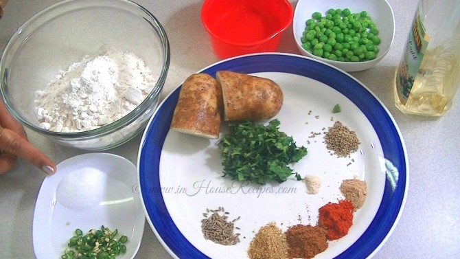 Ingredients for Aloo Samosa recipe