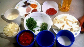 Ingredients for shahi paneer
