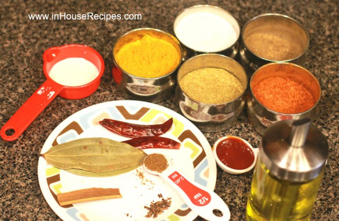 Ingredients spices for kadai paneer