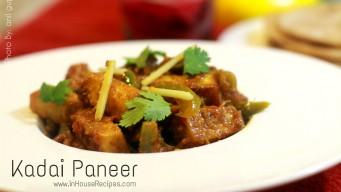 Kadai paneer dry recipe