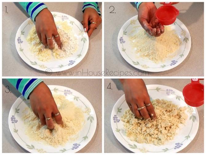 Knead dough for Gulab jamun