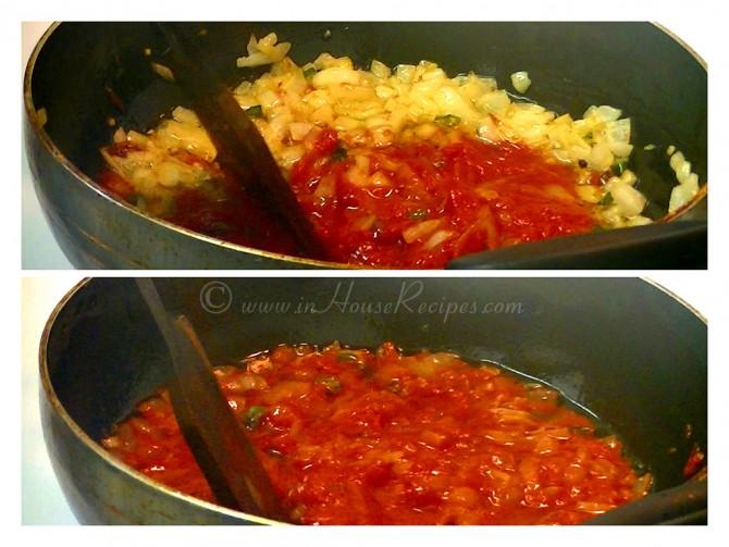 Make Onion Tomato paste