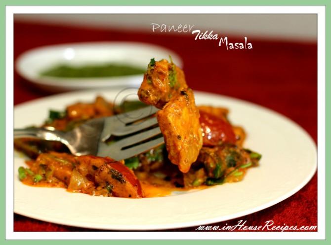 Paneer tikka masala – Main course