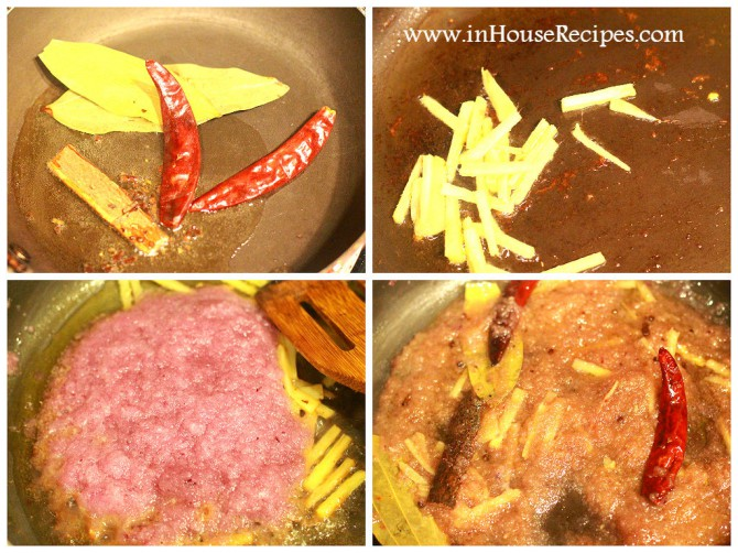 Roast Spices with Onion paste