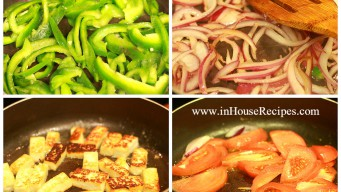 Roasting vegetables in preparation for grinding