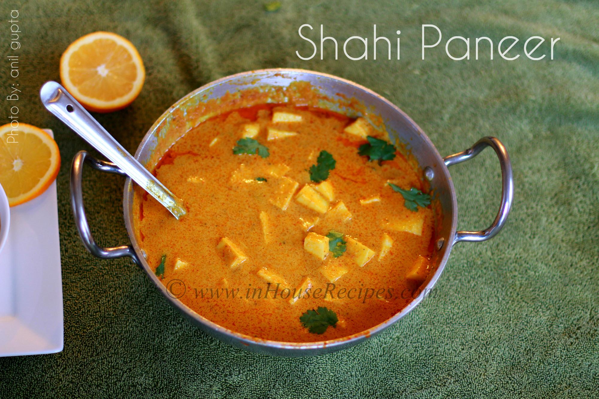 Shahi paneer recipe restaurant style sunset color inhouserecipes shahi paneer at home forumfinder Gallery