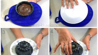 Turn over bowl to push out lava cake