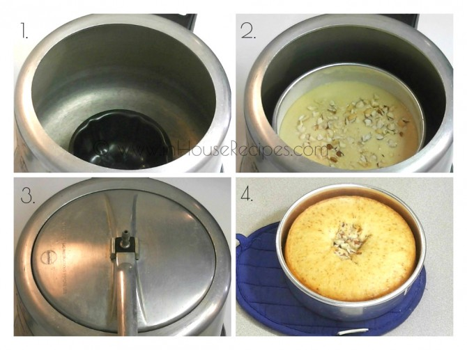 Bake Eggless cake in cooker