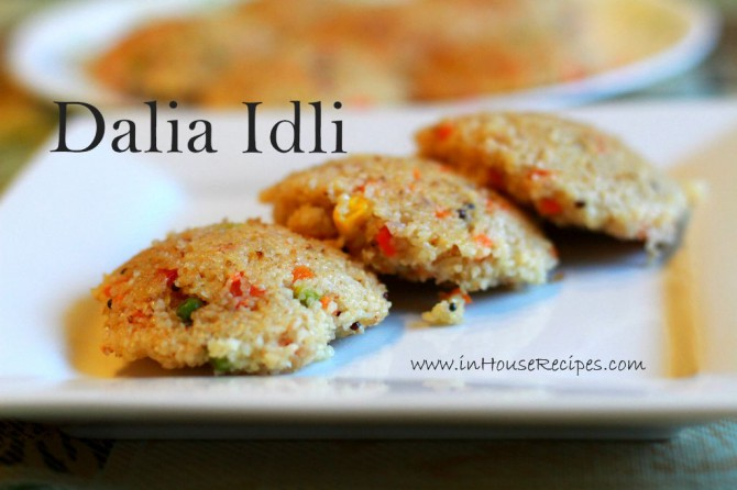 dalia idli making in cooker