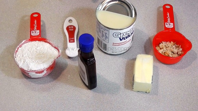Ingredients for eggless cake in cooker
