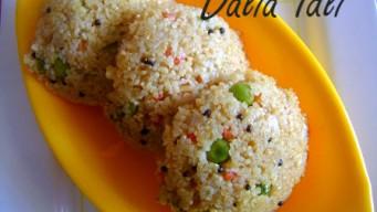 Making Dalia Idli