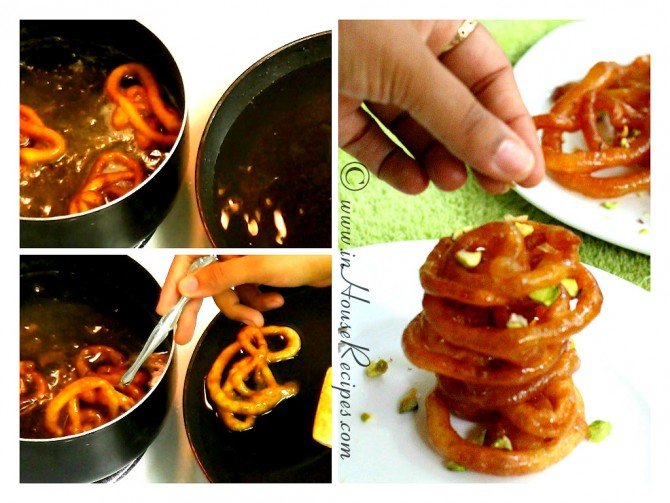 Take out Jalebi from Chashni