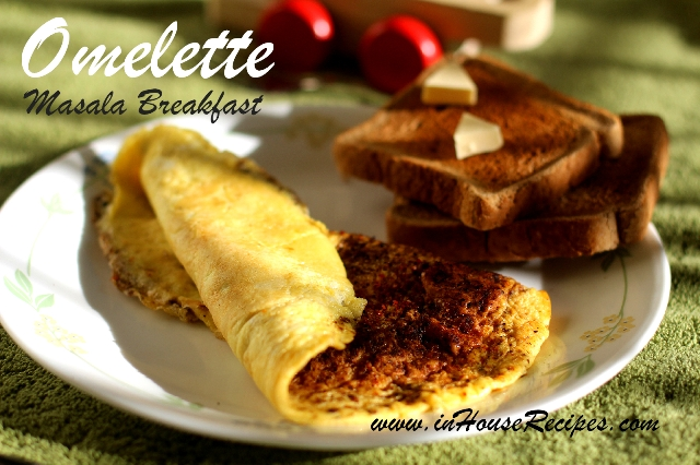 Masala Omelette with bread