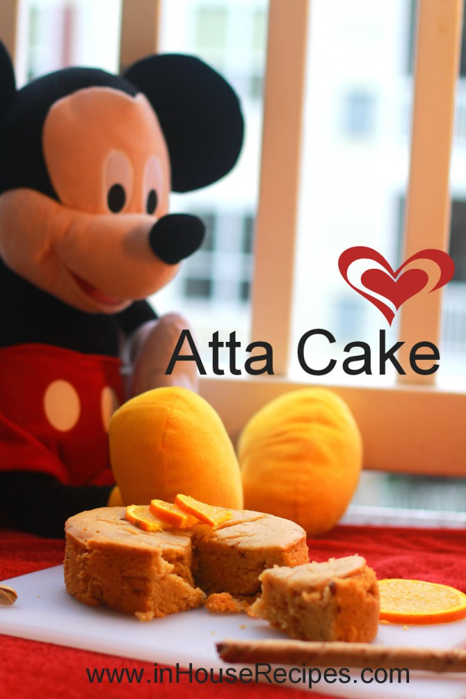 Atta cake eggless  – baked in cooker