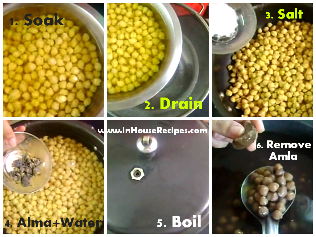 Make black Chole with dry Amla