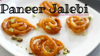 Paneer jalebi garnished with Pistachio