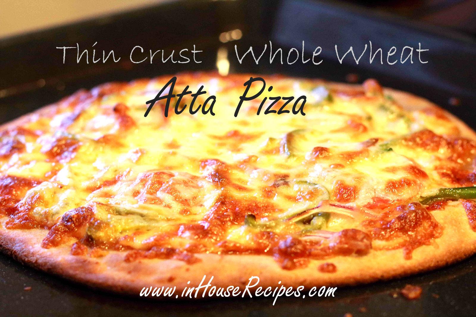 Thin crust whole wheat atta pizza recipe inhouserecipes forumfinder Gallery
