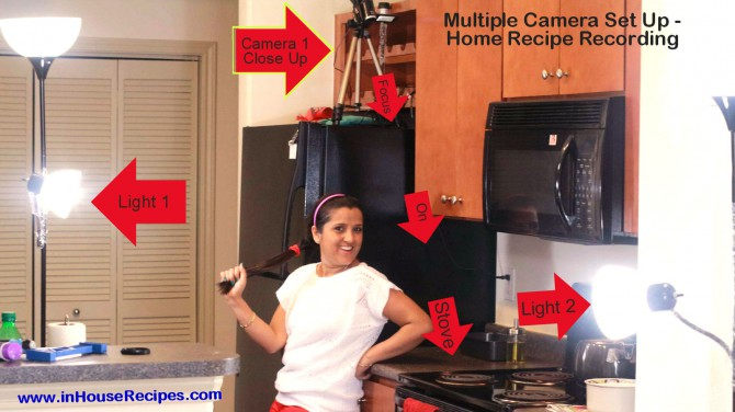 Camera-1 placement for multiple camera home based recipe recording