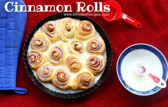 Cinnamon rolls can be made in microwave convection