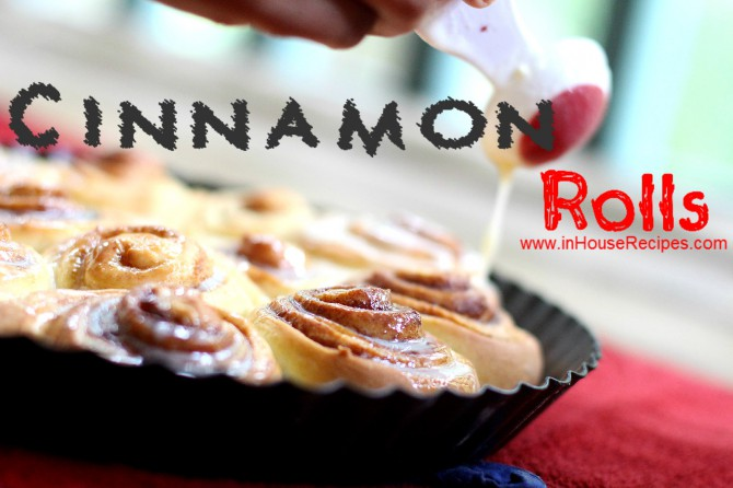 Cinnamon rolls made easily in Oven