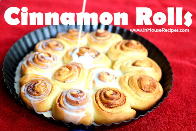 Cinnamon rolls with Glaze Topping – As sweet as it can get