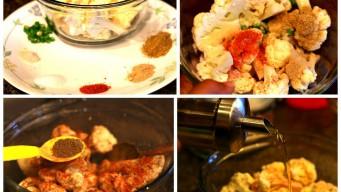 Ingredients for gobi pakora marination
