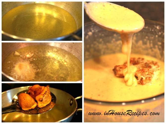 Dip gobi pakora in gram flour mixture