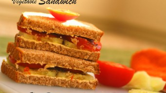 Vegetable Sandwich Recipe – Cucumber Tomato And Butter [Video]