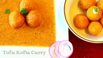 Tofu kofta curry – the sunset color gravy