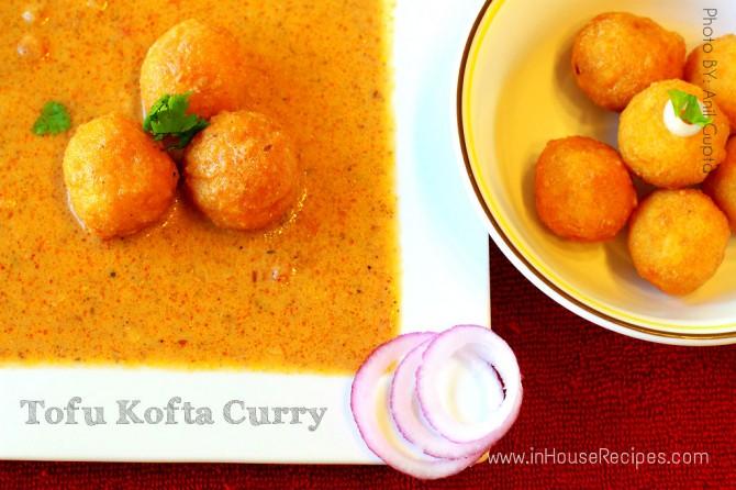 Tofu kofta curry – the sunset color gravy