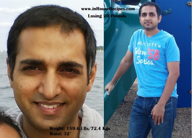 Anil Gupta - After losing 20 pounds - 9 kgs