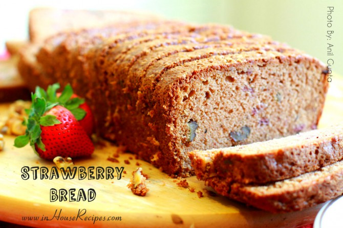 Strawberry bread cake - tried and tested recipe