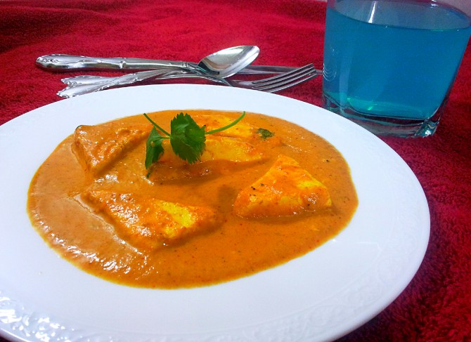 Shahi paneer - The sunset color