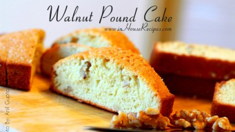 Walnut dry pound cake - Marble shaped sliced pieces