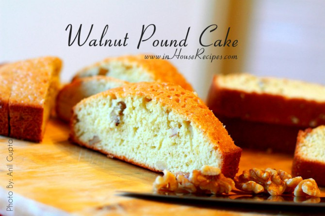 Walnut dry pound cake – Marble shaped sliced pieces