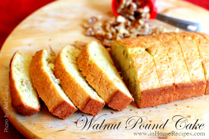 Walnut pound cake – Oven baked home recipe