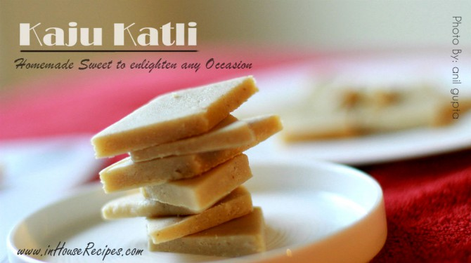 Stacked Kaju katli for diwali