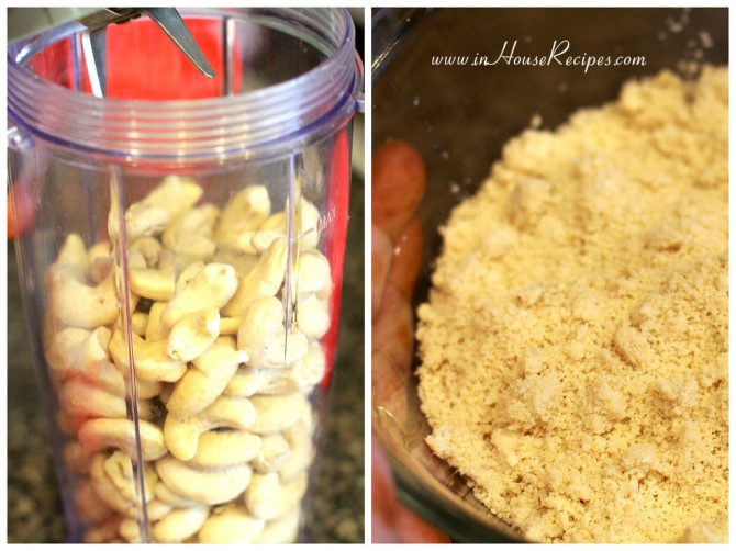 Grind Cashew in a clean jar with no earlier residue and smell.