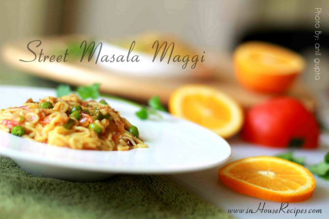 Street  masala maggi is famous at vendors outside offices