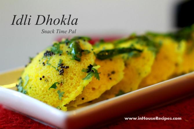 Idli dhokla made with cooker